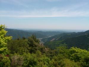 御岳山から都市部をみた景色